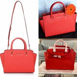 NWT Red/Orange Medium Selma Bag